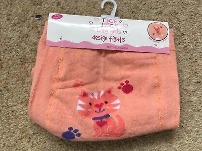 Tick Tock Baby Girls Rear Panel Design Tights Age 0-6 Months Bnwt
