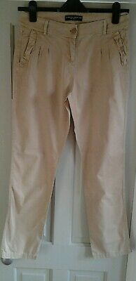 Ladies Chinos Trousers Size 10 Dorothy Perkins Beige VGC