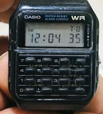 Casio Casio CA-53W (437)  Calculator Unisex Watch - Black,vintage ,run