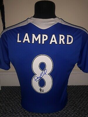 Frank Lampard Genuine Signed Chelsea FC Home Shirt Exact Proof Shown