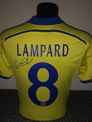 Frank Lampard Genuine Signed Chelsea FC Away Shirt Exact Proof Shown