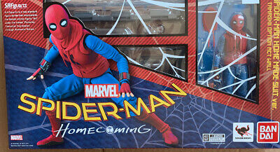 S.H.Figuarts Spider-Man Homecoming Home Made Suit Ver SHF Figure NIB #F265