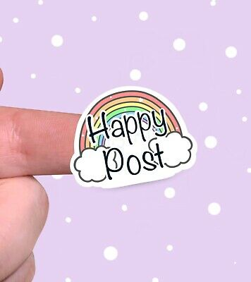 Happy Post Rainbow Stickers For Packaging