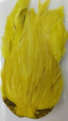 """INDIA CAPE  /"""" Rooster Cock Neck Cape #1 /""""   OLIVE  Fly Tying Dry Flies"""