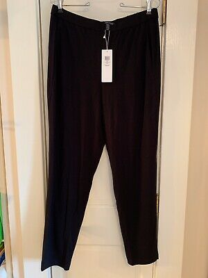 NEW W/ TAG THINK Spring! Black SLOUCHY Slim Ankle Pants EILEEN FISHER Size M