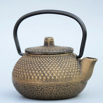 Collectable China Old Bronze Hand-Carved Delicate Unique Little Decorate Tea Pot
