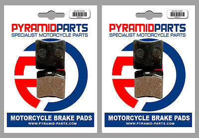 Front & Rear Brake Pads (2 Pairs) for KTM MX 250 1986