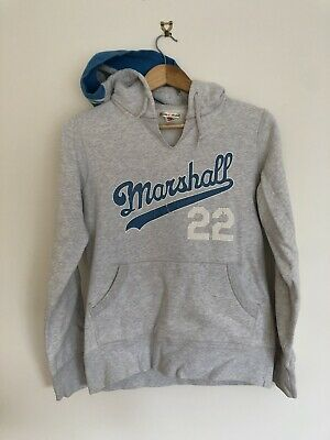 MARSHALL & FRANKLIN - Grey Logo Hoodie - SIZE Small