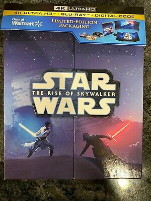 Star Wars Rise Of Skywalker Walmart Exclusive 4K Blu-Ray No Regular BD-Digital