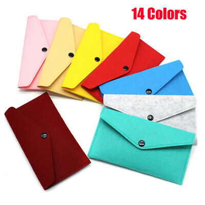 1PC Women Long Wallet Felt Fabric Portable Fold Over Purses--