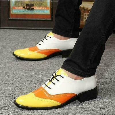 2020 Mens Lace Up Wing Tip Patent Leather Oxfords Dress Formal Wedding Shoes 9.5
