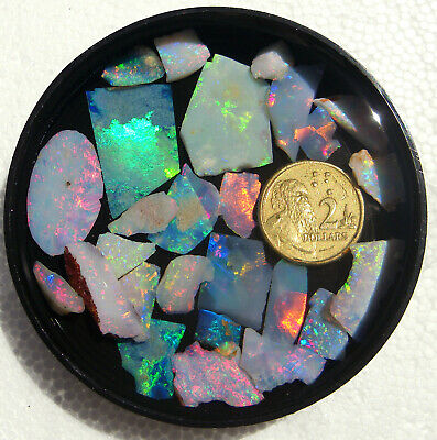Precious Australian Opal Rough Slices With A Chip Or Two