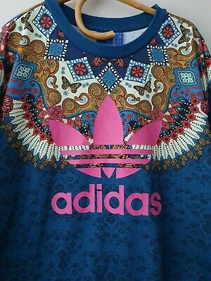 ADIDAS Originals X FARM Women's Barbomix Trefoil Logo Sweatshirt SIZE 16