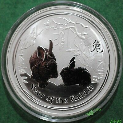 2011 Perth Mint 1 Ounce Lunar Coin, Series 2, Year of the Rabbit .999 Silver.