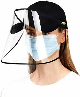 1pc Anti Saliva Hat Dust Proof Baseball Cap with Face Shield Protection Cover