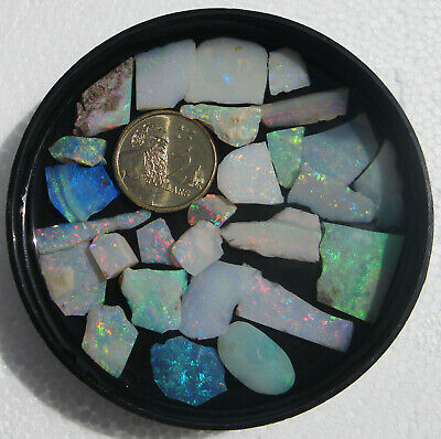 Andamooka And Coober Pedy Opal Rough All Pieces Have Color 07