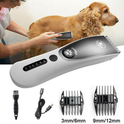 Electric Trimmer Pet Dog Grooming Rechargeable Cordless Hair Clipper Shaver Kit