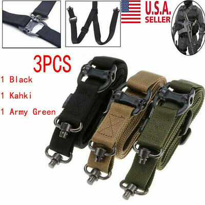 "3PCS Retro Adjust Tactical Quick Detach QD 1 or 2 Point Multi Mission 1.2"" Sling"