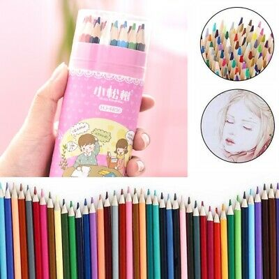 36* Pro Colouring Pencils Set Drawing Artist Kids Therapy Colouring Book Pencil