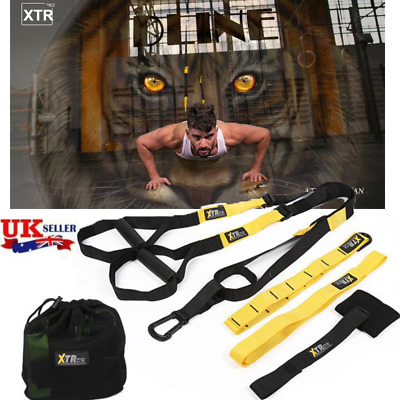 Pro 3 TRX Heavy Duty Suspension trainer straps Home Gym Fitness Resistance bands