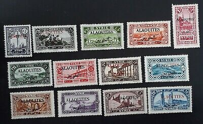 RARE c. 1925 Alaouites lot of Syria Pictorial stamps with Alaouites O/P Mint