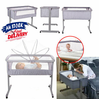 0-3 Years Folding SIDE SLEEPING BASSINET Portacot Travel Cot Portable ACB#