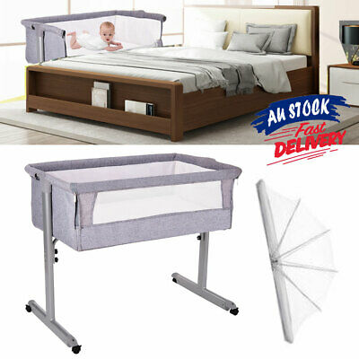 0-3 Years Portacot SIDE Travel Cot Folding Portable SLEEPING BASSINET ACB#