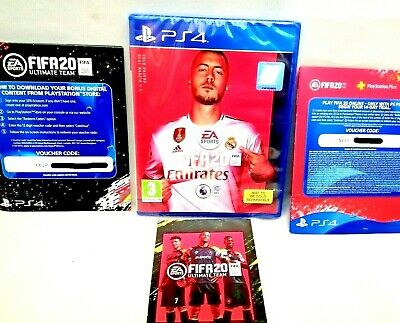 FIFA 20 PS4 *includes* Ultimate Team & free PSN Plus 14 day code NEW & SEALED