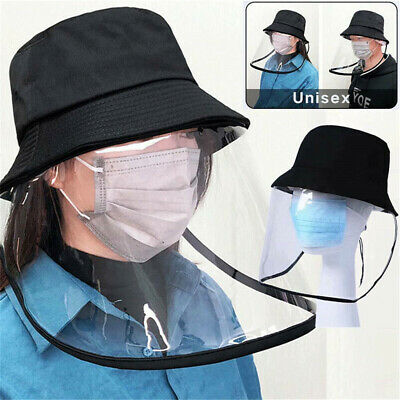 Fisherman Cap + Protective Face Shield Anti-Splash Dust-proof Sun Visor Hat