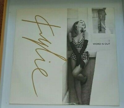 KYLIE MINOGUE Word is Out UK 12 inch single Vinyl PWL