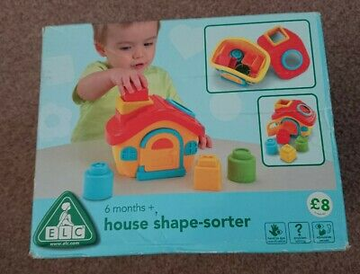 NEW ELC House Shape sorter 6 months+ baby toy Early Learning Centre babies toys