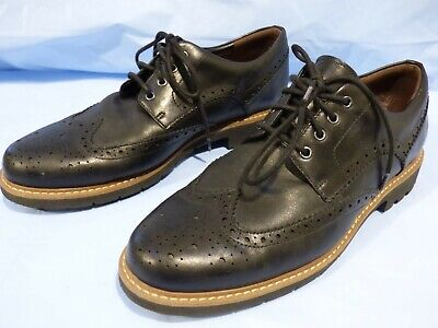 Clarks Batcombe Wing Mens Black Leather Oxford Formal Brogues Shoes Uk 10 E 44.5