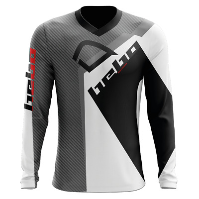 Hebo Pro 20 Trials Jersey Shirt Top Adult Kit - Black White Grey
