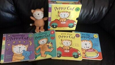 vintage poppy cat 4 touch and feel books and soft toy