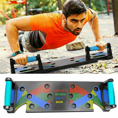 9 in 1 Push Up Rack Board System Fitness Workout Train Gym Exercise Stands DHL