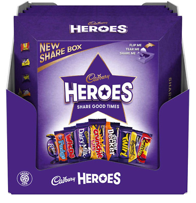 Cadbury Heroes Share Boxes Chocolate & Toffee 5x 385g **Best Before 01.07.2020**