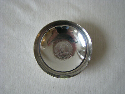 Persian Solid Silver Coin Dish - 4 of 10