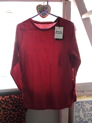 Red Maternity Top Size L Mothercare