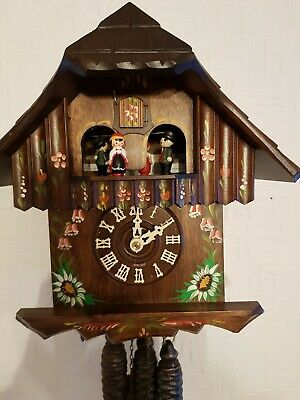 STUNNING BLACK FOREST MUSICAL  CUCKOO CLOCK/FullyServised/VERYClean/ switch off