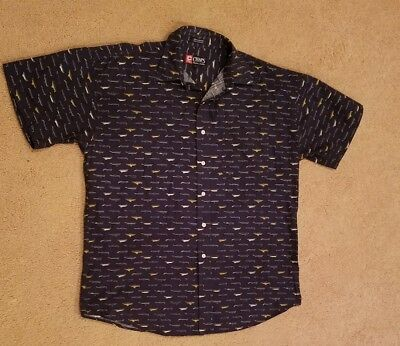Mens Ralph Lauren Boats Ships Chaps Collared Button Up Casual Shirt Size Large