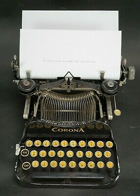 Vintage 1922 Corona Model 3 Folding Typewriter with Case