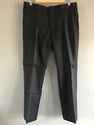 PAUL SMITH The Byard Navy Blue Regular Straight Wool & Cashmere Trousers W34/L30