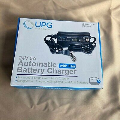 Brand New UPG 24v 5A AUTOMATIC BATTERY CHARGER w/ fan