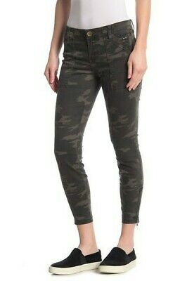 Kut from the Kloth Womens Theresa Camo Ankle Zipper Skinny Jeans Size 10