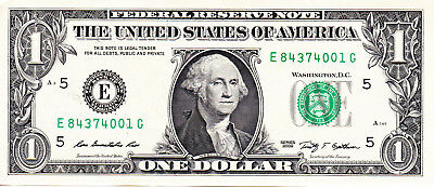 USA $1 Mint E5 / 2009 / Uncirculated condition. Great!