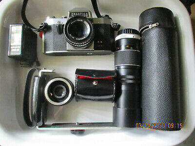 Praktica 35Mm Camera-Lenses-Flash-++++++