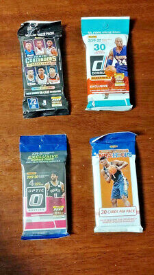 2019-20 Basketball Lot NBA Hoops, Donruss, Contenders & Optic Cello Jumbo Pack