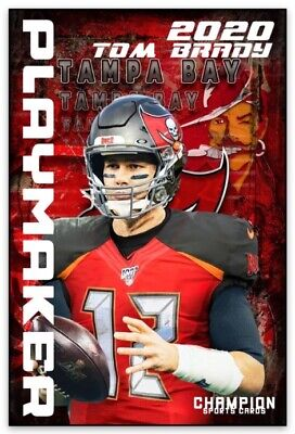 Tampa Bay Buccaneers Tom Brady 2020 Football Card Style MAGNET