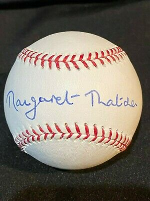 Margaret Thatcher Signed Autographed ROML Baseball - Clean - JSA Certified