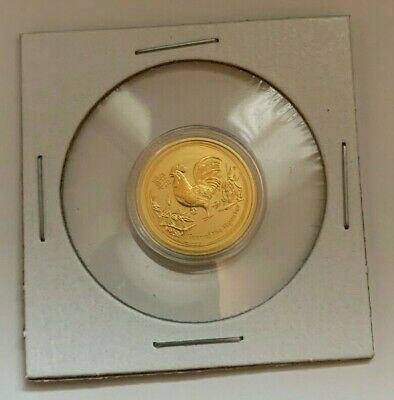 2017 Gold Australian Lunar Series II Year Of The Rooster 1/10 Ounce Gold Coin